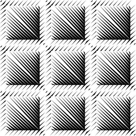 convex: Design seamless square convex pattern. Abstract geometric monochrome background. Vector art. No gradient