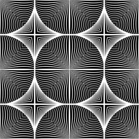 no lines: Design seamless monochrome ellipse pattern. Abstract lines textured background. Vector art. No gradient Illustration