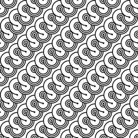 Design seamless monochrome geometric pattern. Abstract diagonal background. Vector art