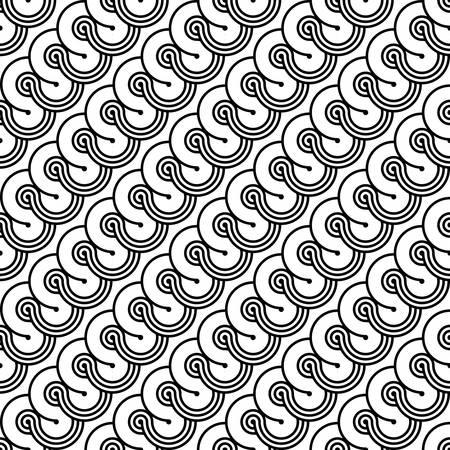 Design seamless monochrome geometric pattern. Abstract diagonal background. Vector art
