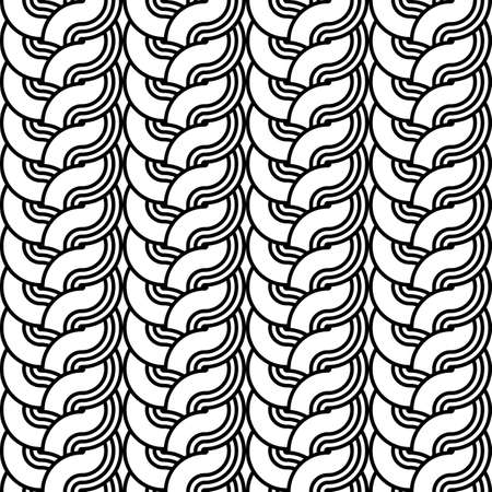 striped band: Design seamless monochrome interlaced pattern. Abstract stripy background. Vector art