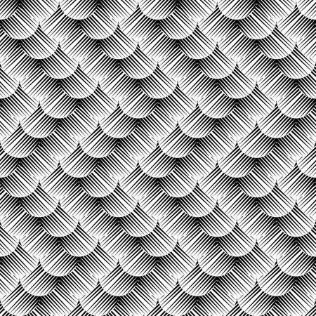 deform: Design seamless monochrome zigzag pattern. Abstract waving background. Vector art. No gradient