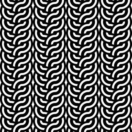 interlaced: Design seamless monochrome interlaced pattern. Abstract stripy background. Vector art
