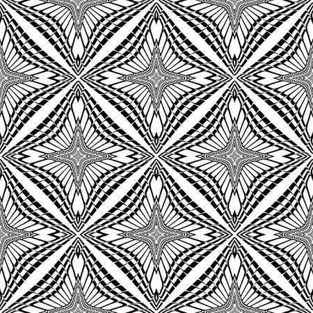 deform: Design seamless monochrome geometric pattern. Abstract background. Vector art