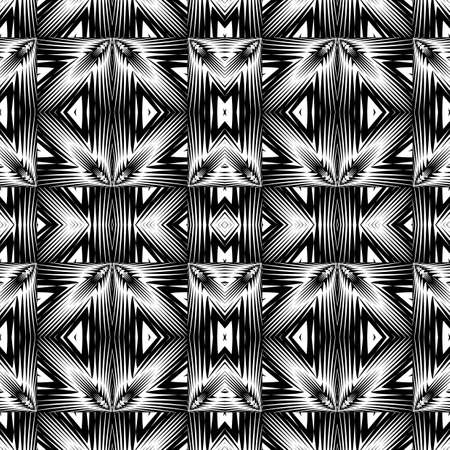 strip design: Design seamless monochrome geometric pattern. Abstract lattice background. Vector art. No gradient