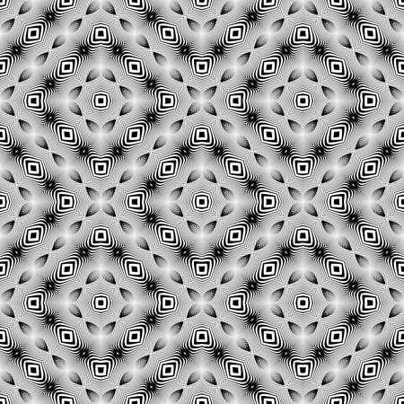 no gradient: Design seamless monochrome striped pattern. Abstract textured background. Vector art. No gradient Illustration