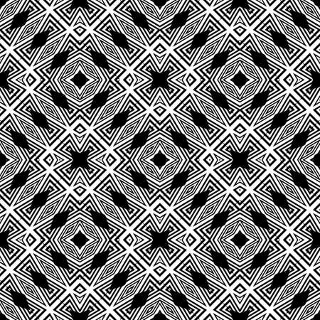 trellis: Design seamless monochrome geometric pattern. Abstract striped background. Vector art