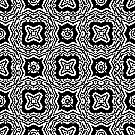 trellis: Design seamless monochrome geometric pattern. Abstract background. Vector art