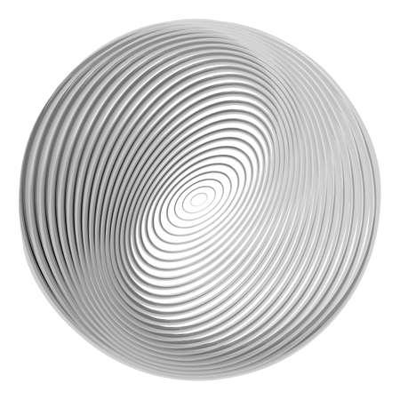 torsion: Design monochrome ellipse background. Abstract torsion illusion backdrop.