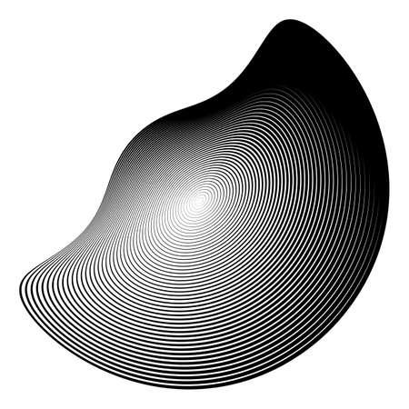 forme geometrique: Conception monochrome illusion fond. Abstract backdrop bande de torsion. Vector-art illustration. aucun gradient