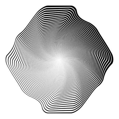 no gradient: Design monochrome illusion background. Abstract stripe torsion backdrop. Vector-art illustration. No gradient