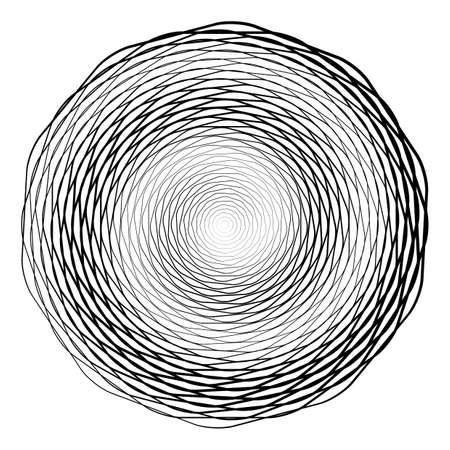 curl whirlpool: Design monochrome illusion background. Abstract stripe torsion backdrop. Vector-art illustration. No gradient