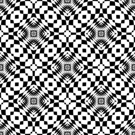 deform: Design seamless monochrome checkered background. Abstract geometric pattern. Vector art Illustration