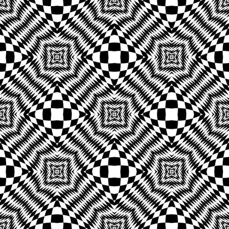 checkered volume: Design seamless monochrome checkered background. Abstract geometric pattern. Vector art. No gradient Illustration