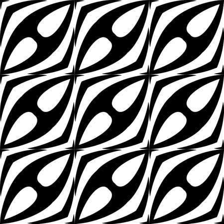 trellis: Design seamless waving pattern. Abstract monochrome background. Vector art Illustration