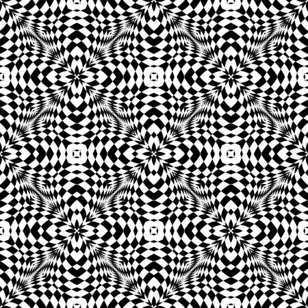 convex shape: Design seamless monochrome geometric pattern. Abstract striped background. Vector art. No gradient