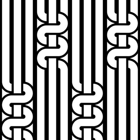stripy: Design seamless monochrome waving pattern. Abstract stripy background. Vector art Illustration