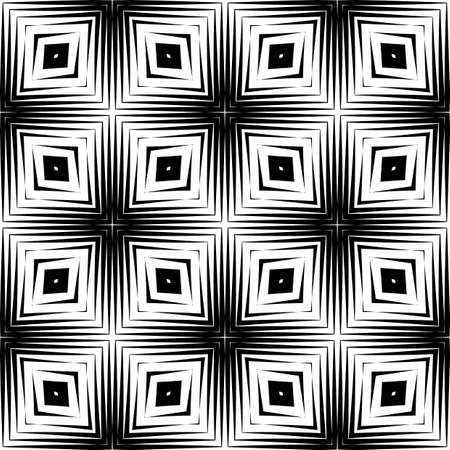 strip design: Design seamless diamond pattern. Abstract geometric monochrome background. Vector art. No gradient Illustration