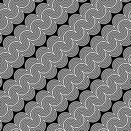 stripy: Design seamless monochrome waving zigzag pattern. Abstract stripy background. Vector art