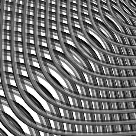 checkered volume: Design monochrome grid illusion background.