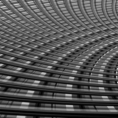 deform: Design monochrome grid illusion background. Abstract torsion backdrop. Vector-art illustration. EPS10