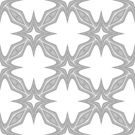 deform: Design seamless monochrome decorative pattern. Abstract background. Vector art. No gradient
