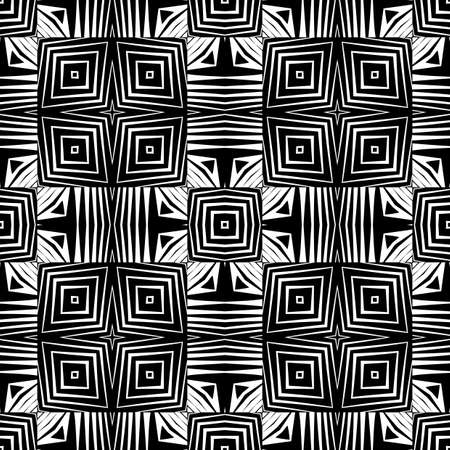 no gradient: Design seamless monochrome geometric pattern. Abstract lattice background. Vector art. No gradient