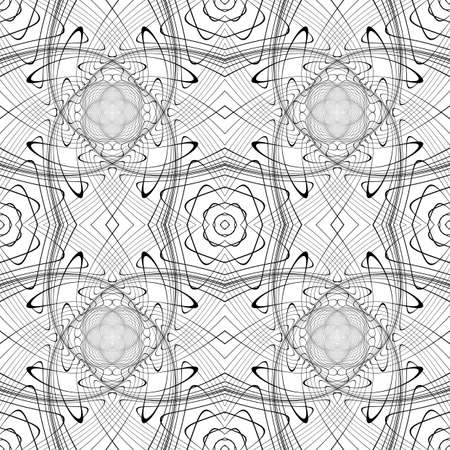 deform: Design seamless monochrome waving pattern. Abstract background. Vector art. No gradient
