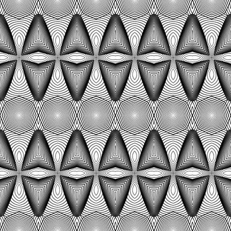 diamante negro: Diseñar monocromo patrón de rayas transparente. Resumen de fondo con textura. Arte del vector. No degradado