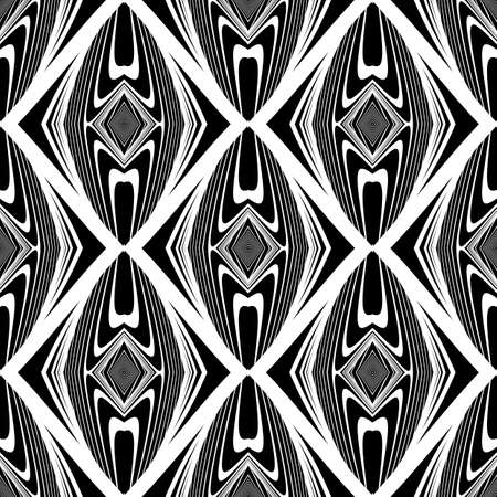 no lines: Design seamless monochrome diamond pattern. Abstract lines textured background. Vector art. No gradient