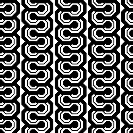 striped band: Design seamless monochrome geometric pattern. Abstract vertical background. Vector art Illustration