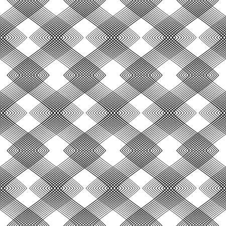 strip design: Design seamless monochrome geometric pattern. Abstract background. Vector art. No gradient