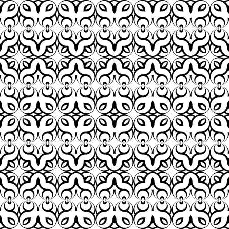 deform: Design seamless monochrome waving decorative pattern. Abstract background. Vector art Illustration