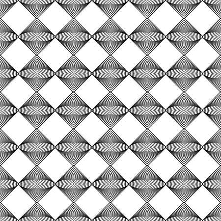 trellis: Design seamless monochrome decorative pattern. Abstract lines textured background. Vector art. No gradient