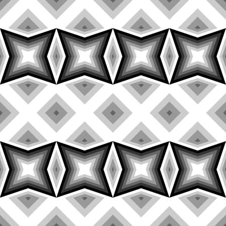 no gradient: Design seamless monochrome geometric pattern. Abstract background. Vector art. No gradient