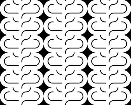 interlace: Design seamless monochrome interlaced pattern. Abstract background. Vector art