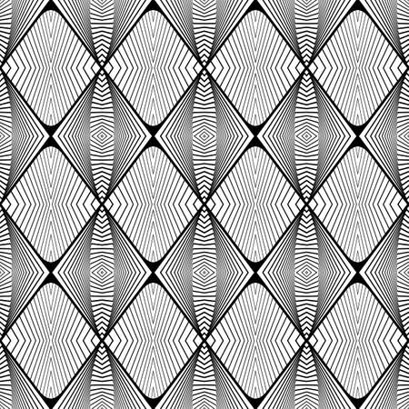 no gradient: Design seamless monochrome geometric pattern. Abstract decorative background. Vector art. No gradient