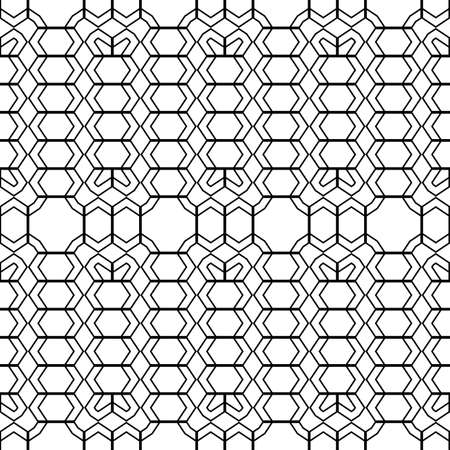 trellis: Design seamless monochrome geometric pattern. Abstract zigzag background. Vector art Illustration