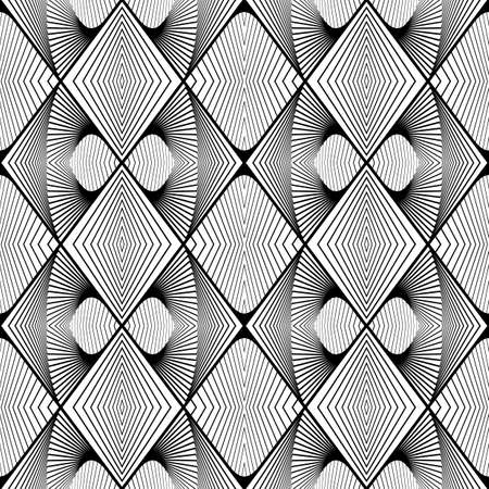 zigzag: Design seamless monochrome zigzag pattern. Abstract decorative background. Vector art. No gradient