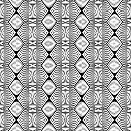 no gradient: Design seamless monochrome geometric pattern. Abstract decorative background. Vector art. No gradient