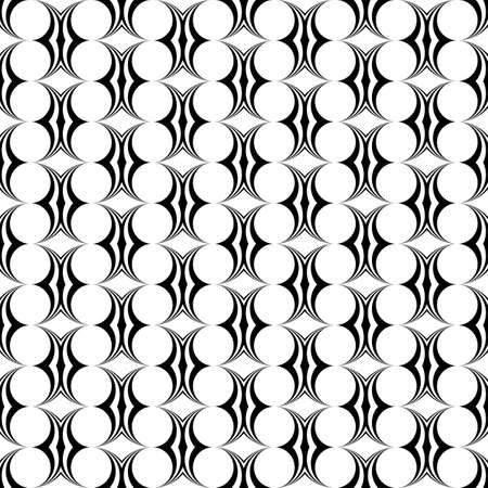 elipse: Patrón de diseño en blanco y negro sin fisuras elipse. Fondo decorativo abstracto. arte del vector