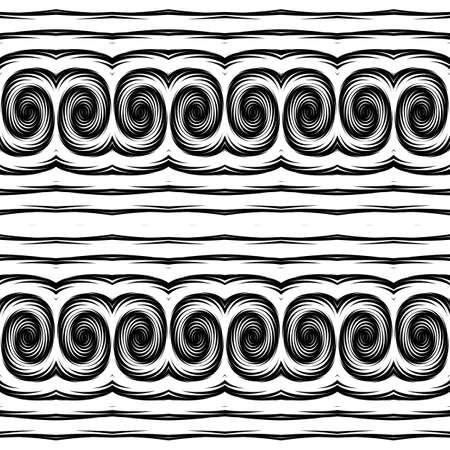 no gradient: Design seamless monochrome waving pattern. Abstract decorative background. Vector art. No gradient Illustration