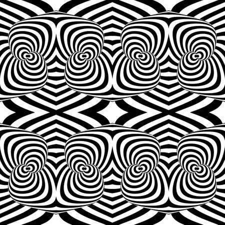 salient: Design seamless monochrome illusion background. Abstract stripe pattern. Vector art
