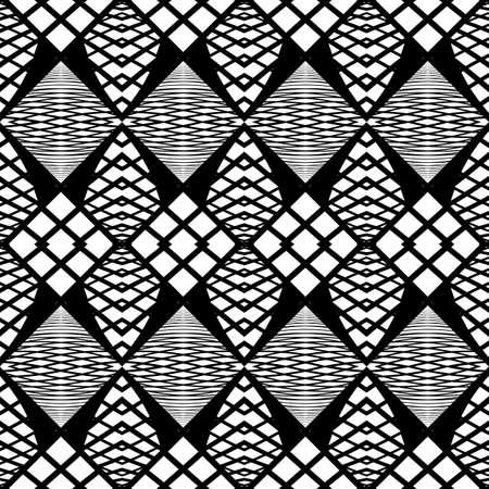 zigzag: Design seamless monochrome zigzag pattern. Abstract grid background. Vector art. No gradient