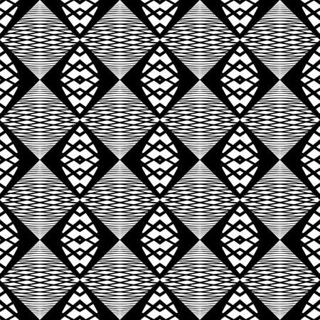 Design seamless monochrome zigzag pattern. Abstract grid background. Vector art. No gradient