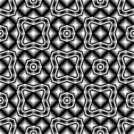 no gradient: Design seamless monochrome geometric pattern. Abstract background. Vector art. No gradient