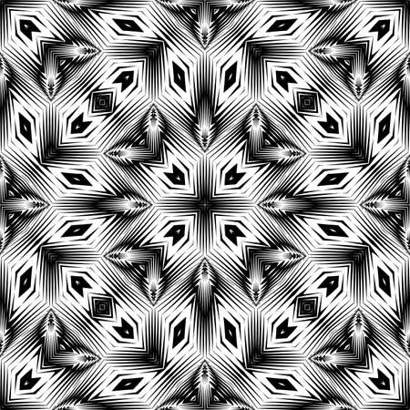 Design seamless monochrome geometric pattern. Abstract lattice background. Vector art. No gradient