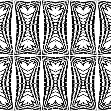 deform: Design seamless monochrome pattern. Abstract background. Vector art