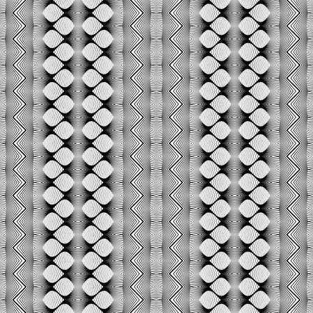 strip design: Design seamless monochrome zigzag pattern. Abstract geometric background. Vector art. No gradient Illustration