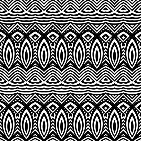 deform: Design seamless monochrome waving pattern. Abstract decorative background. Vector art Illustration